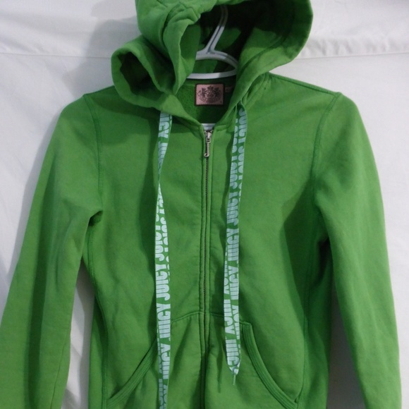 Juicy Couture small green zip sweatshirt hoodie